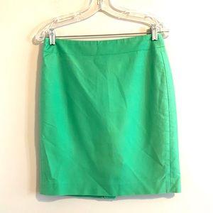 J Crew Green No 2 Pencil Skirt